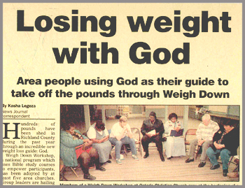 Read Newspaper Articles about Weigh Down Gwen Shamblin and Remnant Fellowship members